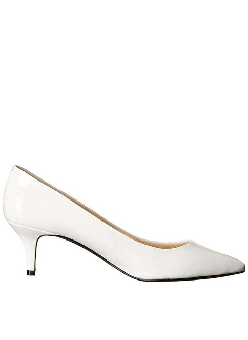 Nine West İnce Kısa Topuklu Stiletto Ayakkabı Beyaz